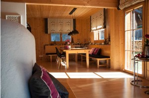 wohnraum-essbereich chalet auszeit montafon